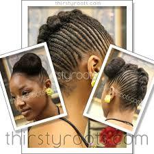 black updo hairstyles atlanta cornrows updo bun