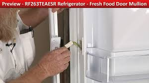French Door Latch Options - door mullion heater rf263teaesr samsung refrigerator youtube