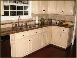 Kitchen Backsplash Ideas With Granite Countertops Tropic Brown Granite Countertops With White Cabinets Around The