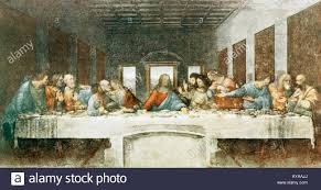 the last supper leonardo da vinci 15th century mural painting in stock photo the last supper leonardo da vinci 15th century mural painting in milan 1495 1498