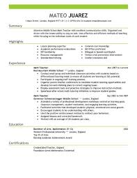 Simple Resume Templates Free Resume Templates Simple Job Samples A Format Outline