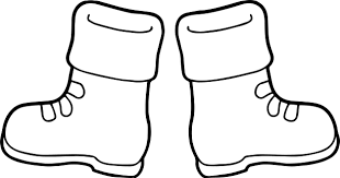 winter boots coloring wecoloringpage