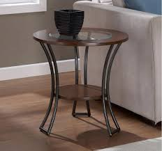90 off macys artistica round glass and metal end table bird sewstars