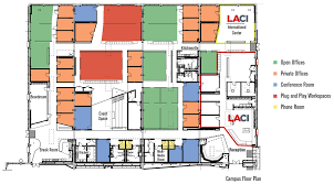 Data Center Floor Plan by Laci La Kretz Innovation Campus