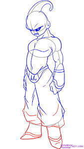 dibujo de majin boo dibujos pinterest dragon ball dragons