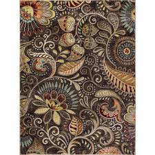 Brown Area Rug Tayse Rugs Brown 7 Ft 10 In X 10 Ft 3 In Transitional
