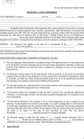 download personal loan agreement form templates for free tidyform