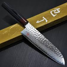 japanese seto iseya hammered damascus vg10 santoku kitchen knife iseya hammered 33 layers nickel damascus vg10 santoku knife 180mm i 5