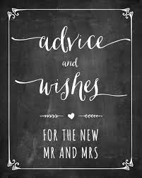 wedding wishes and advice free printable wedding sign only by invite