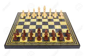 how to set up chess table chess board set up to begin a game isolated on white background