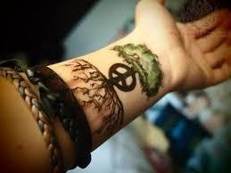 36 peace symbol wrist tattoos design