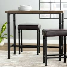 Outdoor Bistro Table Set Stools Bar Table And Stools Set Furniture Sevigny 3 Piece Pub