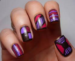 grey and purple nail designs