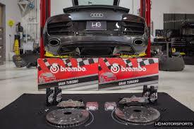 Audi R8 Upgrades - audi r8 v10 brembo racing and raceline coilovers upgrade hg