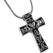 cremation necklaces celtic cross stainless steel cremation jewelry for ashes