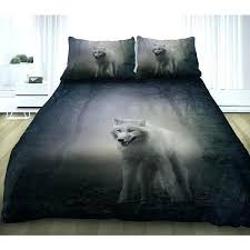 Wolf Bedding Set Awesome Wolf Comforter Set Cool Print Bedding Sets King