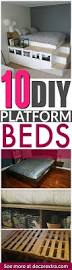 Cottage Platform Bed With Storage Ikea Diy Ideas 6 Ways To Make Your Own Platform Bed With Storage