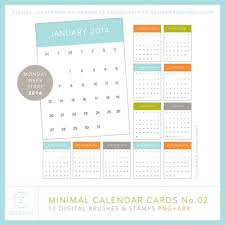 minimal calendar cards brushes and sts no 02 cathy zielske