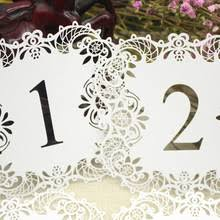 Laser Cut Table Numbers Paper Table Numbers Promotion Shop For Promotional Paper Table
