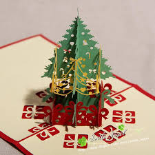 gift card trees creative kirigami origami 3d pop up greeting gift christmas