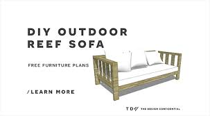 Free Diy Outdoor Furniture Plans by Free Diy Furniture Plans How To Build An Outdoor Reef Sofa With