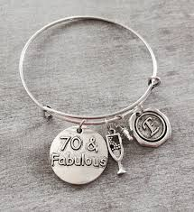 birthday charm bracelet 70 and fabulous 70th birthday birthday charm silver birthday