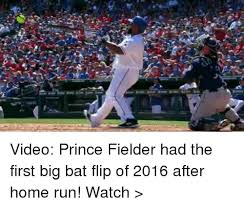 Prince Fielder Memes - video prince fielder had the first big bat flip of 2016 after home