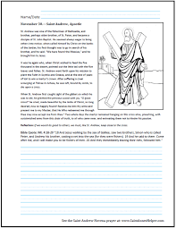 saint andrew worksheet catechism religion class