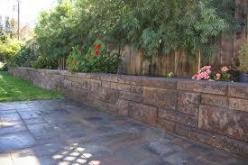 backyard landscaping garden retaining wall joe u0027s happy hour