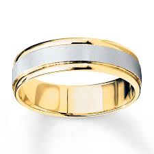 two tone wedding rings wedding band 10k two tone gold 6mm