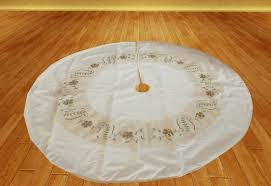 second marketplace tree skirt 7 white and gold