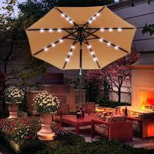 Lighted Patio Umbrella Solar Lighted Outdoor Umbrella Solar Powered Lighted Patio Umbrella