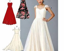 wedding dress patterns to sew wedding gown pattern etsy