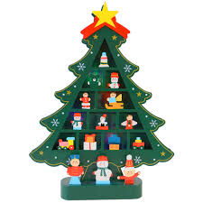 battery operated green wooden colour changing led xmas tree