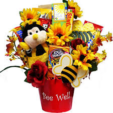 candy gift basket bee well soon get well candy bouquet gourmet gift