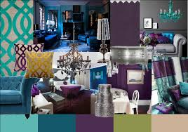 peacock color scheme bedroom at home interior designing