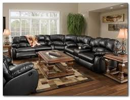 Black Leather Sectional Sofas Outstanding Reclining Leather Sectional Sofa Recline Designs