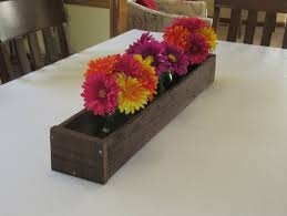 stained wood planter box u2022 mason jar centerpiece long wood box