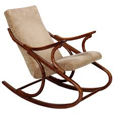Outdoor Wooden Rocking Chairs For Sale Midcentury Czech Ton Bent Wood Rocking Chair At 1stdibs