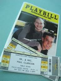 playbill wedding program thats it im going to a broadway themed wedding its genius
