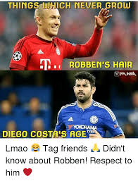 Diego Costa Meme - things which never grow robben s hair tninsta diego costa sage