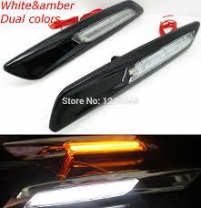 lexus es 350 hood emblem 2pcs dual color switch white amber led fender font b side b font marker lamp turn jpg