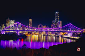 brisbane s story bridge lights change colour matt warrell