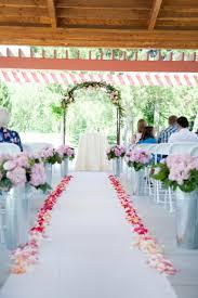 flower petal lined aisle runner elizabeth anne designs the