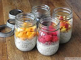 no bake dairy free sugar free overnight oats