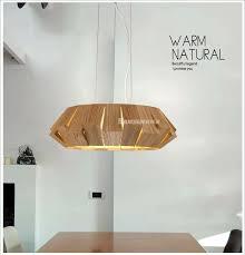 Wood Light Fixture Modern Wooden Pendant Light Rural Industrial Vintage Wood