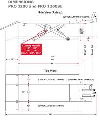 motorcycle lift table plans pro 1200 motorcycle lift drawing and dimensions diy pinterest