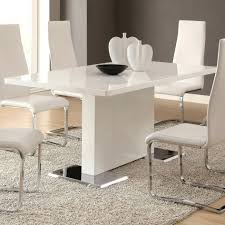 coaster dining room sets white modern dining room sets coaster table with chrome metal base