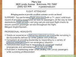Highlights On A Resume How To Write A Cv For A Cabin Crew Position With Pictures