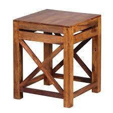 Wohnzimmertisch Metall Holz Finebuy 2er Set Beistelltisch Massiv Holz Sheesham Wohnzimmer